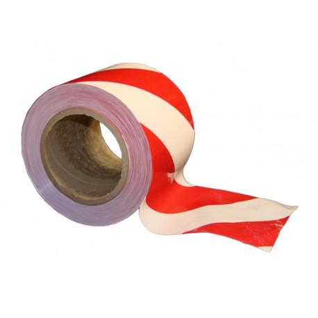 Taśma ostrzegawcza czerwono-biała 75mm x 100m